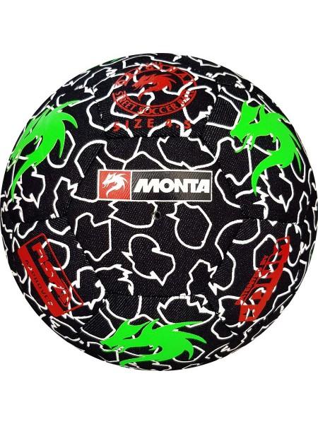 Футбольный мяч MONTA Street Match (003) черно-зеленый