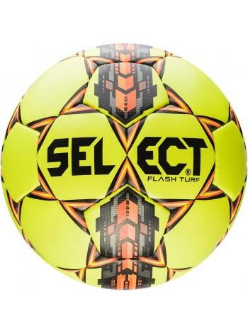 купить Футбольный мяч SELECT Flash Turf (306) желто-серо-оранжевый