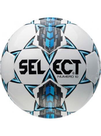 купить Футбольный мяч SELECT Numero 10 (305) бело-серо-голубой