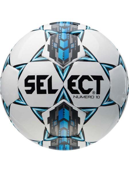 Футбольный мяч SELECT Numero 10 (305) бело-серо-голубой