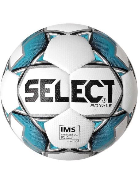 Футбольный мяч SELECT Royal IMS (011) бело-синий