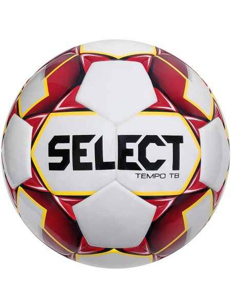Футбольный мяч SELECT Tempo IMS (010) бело-красный размер 4