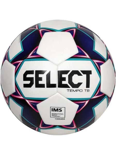 Футбольный мяч SELECT Tempo IMS (012) бело-фиолетовый