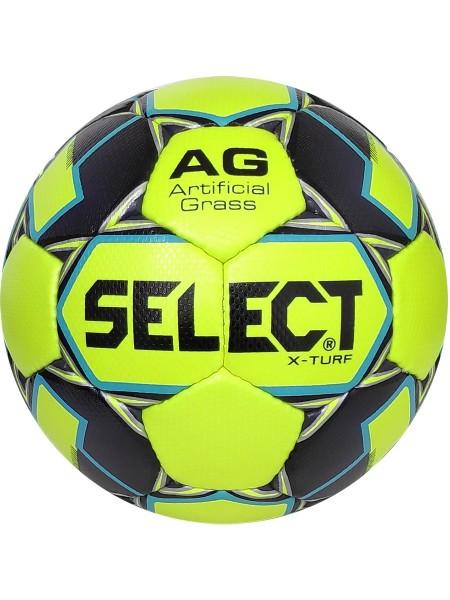 Футбольный мяч SELECT X-Turf (010) желто-серый размер 4