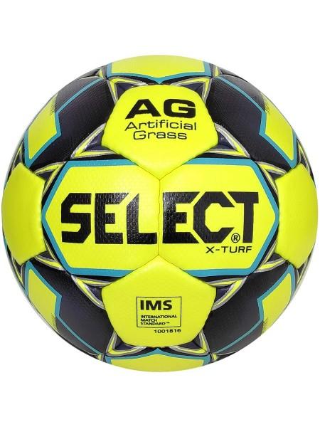 Футбольный мяч SELECT X-Turf IMS (010) желто-серый размер 5