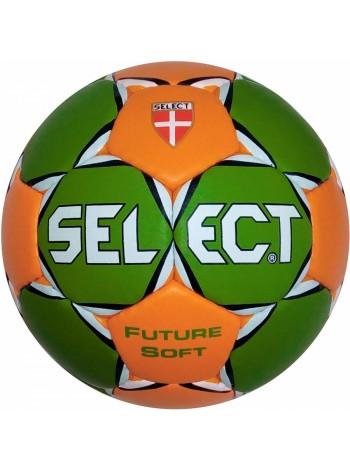 купить Гандбольный мяч SELECT FUTURE SOFT (52-54 см) зелено-оранжевый р.1,5