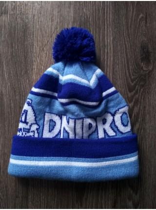 Футбольная шапка Днепро синяя