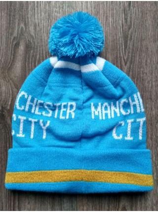 Футбольная шапка Манчестер Сити синяя