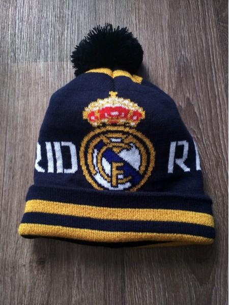 Футбольная шапка Реал Мадрид синяя
