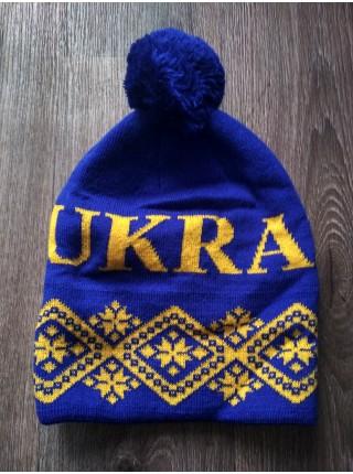 Футбольная шапка Украина синяя