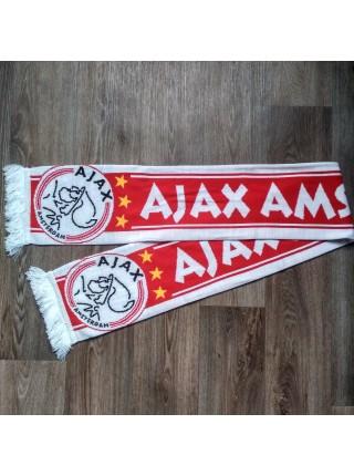 Футбольный шарф Аякс красный