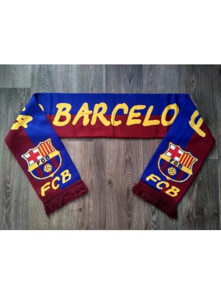 Футбольный шарф Барселона синий