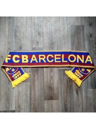 Футбольный шарф Барселона сине-гранатовый