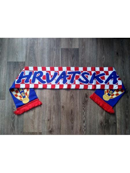 Футбольный шарф Хорватия синий