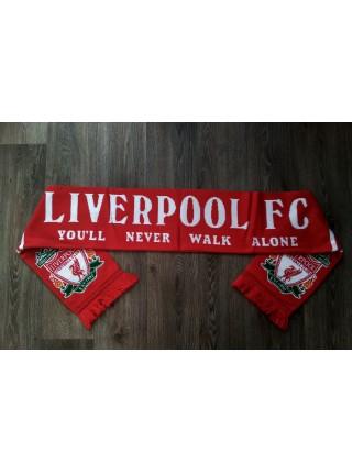 Футбольный шарф Ливерпуль красный