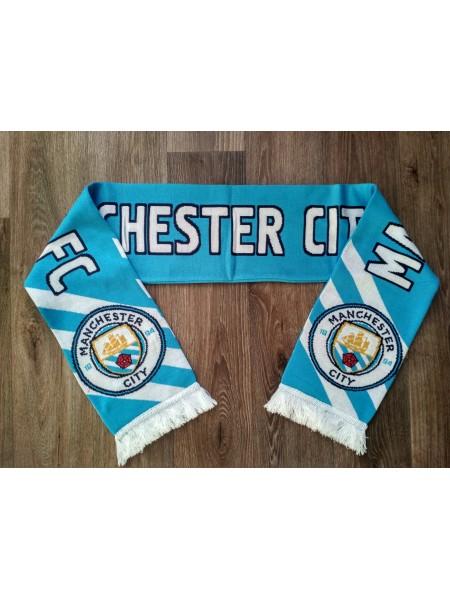 Футбольный шарф Манчестер Сити голубой