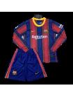 купить Футбольная форма с длинным рукавом Барселона домашняя 2020-2021