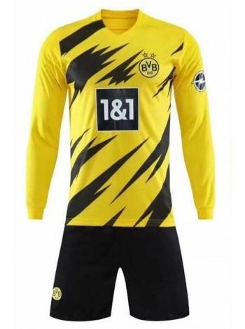 купить Футбольная форма с длинным рукавом Боруссия Дортмунд домашняя 2020-2021
