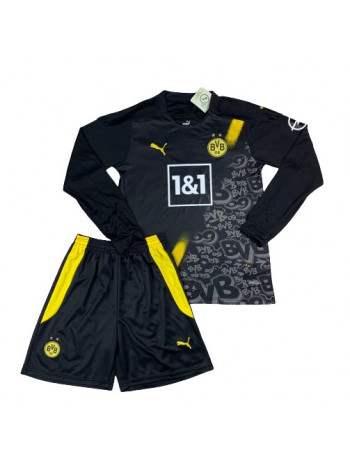 купить Футбольная форма с длинным рукавом Боруссия Дортмунд выездная 2020-2021