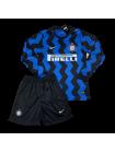 купить Футбольная форма с длинным рукавом Интер домашняя 2020-2021
