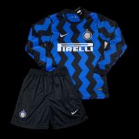 Футбольная форма с длинным рукавом Интер домашняя 2020-2021