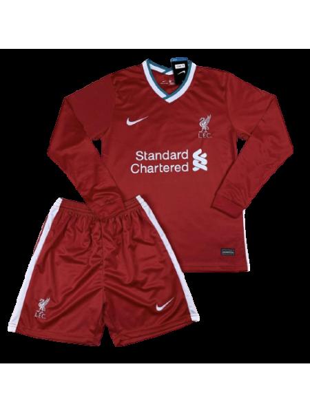 Футбольная форма с длинным рукавом Ливерпуль домашняя 2020-2021