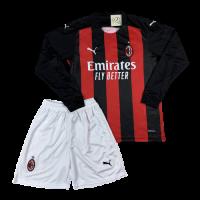 Футбольная форма с длинным рукавом Милан домашняя 2020-2021