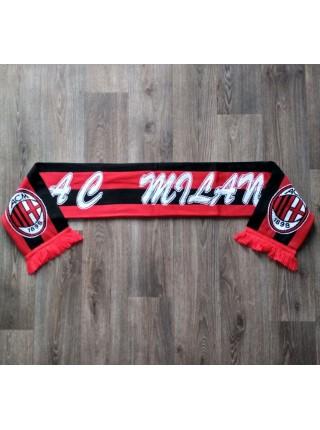 Футбольный шарф Милан черно-красный