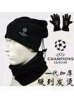 купить Комплект шапка-бафф перчатки зимние + горловик  Лига Чемпионов черный