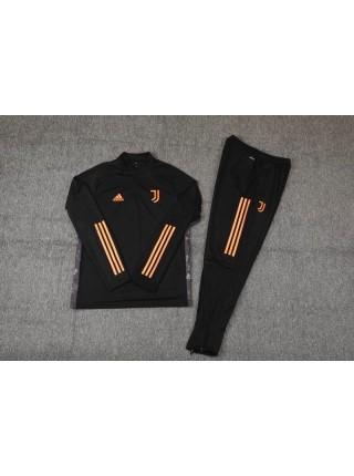 Детский спортивный костюм Ювентус черный  2020-2021