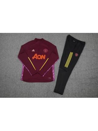 Детский спортивный костюм Манчестер Юнайтед красный 2020-2021