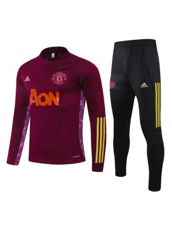 купить Детский спортивный костюм Манчестер Юнайтед красный 2020-2021