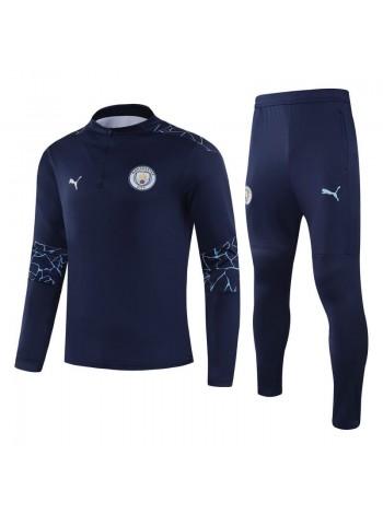 купить Детский спортивный костюм Манчестер Сити темно-синий 2020-2021