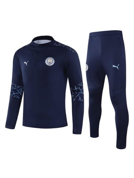 Детский спортивный костюм Манчестер Сити темно-синий 2020-2021