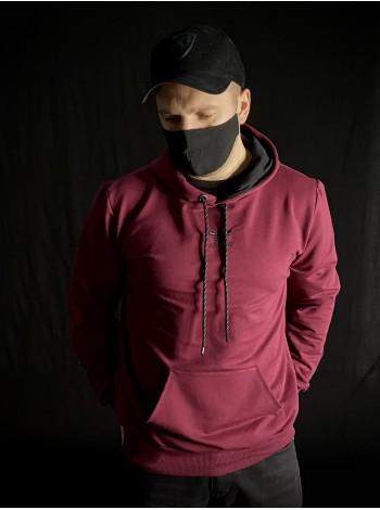 купить Кофта худи Adidas бордовая