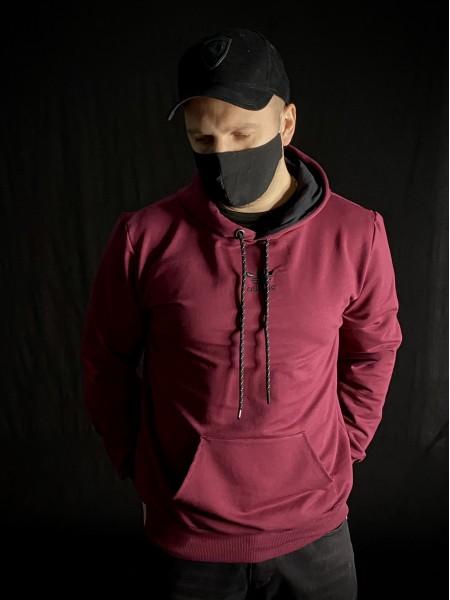 Кофта худи Adidas бордовая