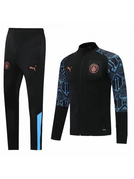 Спортивный костюм Манчестер Сити черный 2020-2021