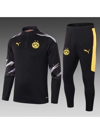 купить Тренировочный костюм Боруссия Дортмунд черный сезон 2020-2021