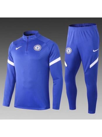 купить Тренировочный костюм Челси синий 2020-2021