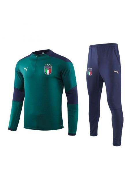 Тренировочный костюм Италия темно-зеленый 2020