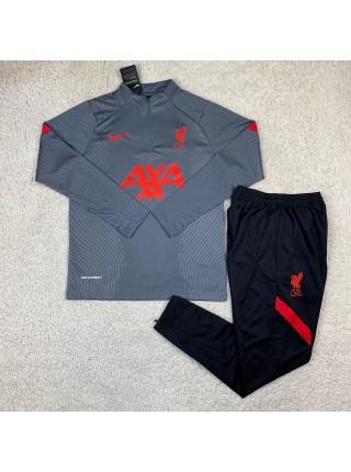 Тренировочный костюм Ливерпуль темно-серый 2020-2021