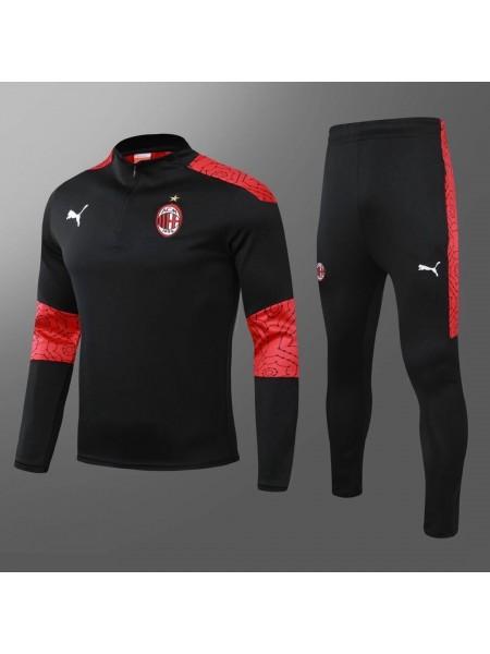 Тренировочный костюм Милан черный 2020-2021