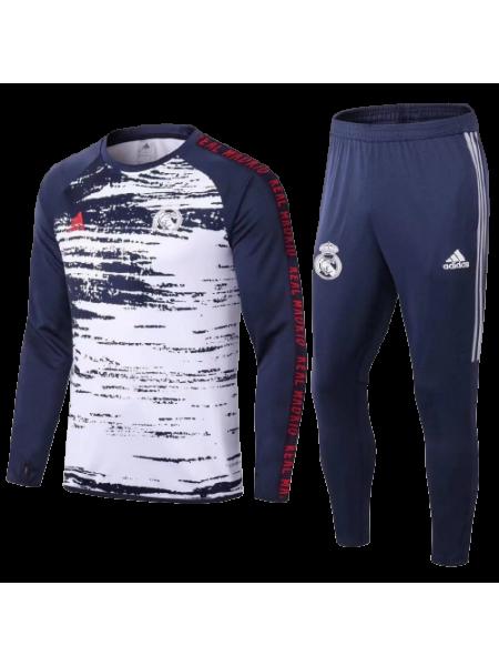Тренировочный костюм Реал Мадрид темно-синий 2020-2021