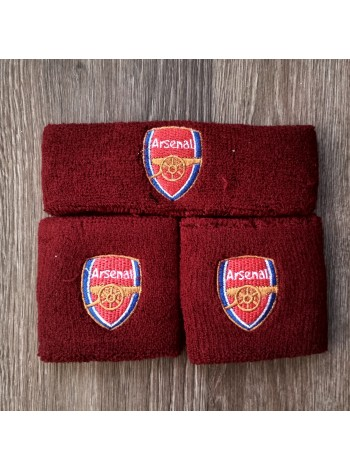 купить Комплект напульсники и повязка на голову Арсенал бордовый