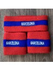 купить Комплект напульсники и повязка на голову Барселона красный