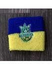 купить Комплект напульсники и повязка на голову Украина желто-синий