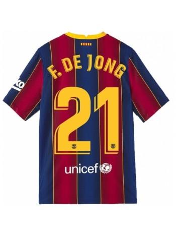 купить Детская футбольная форма Барселона F. DE JONG 21 домашняя 2020-2021
