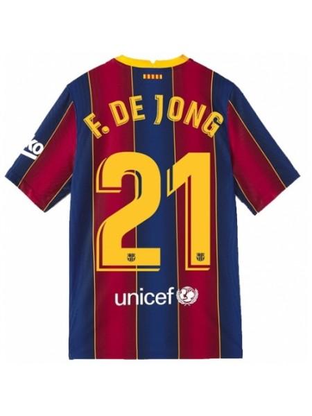 Детская футбольная форма Барселона F. DE JONG 21 домашняя 2020-2021
