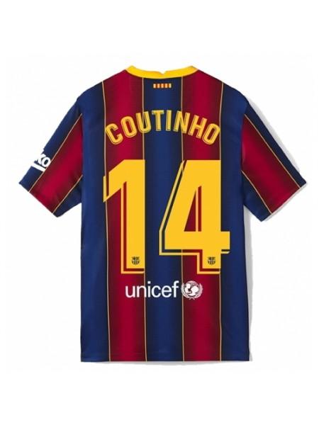 Детская футбольная форма Барселона COUTINHO 14 домашняя 2020-2021