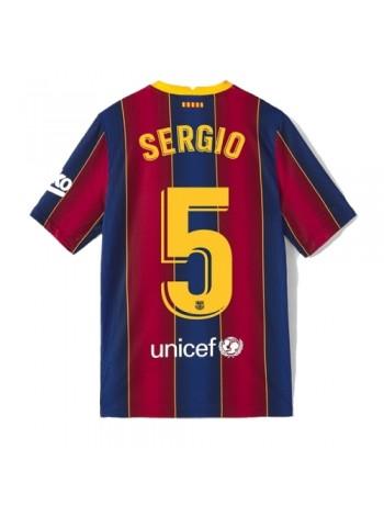купить Детская футбольная форма Барселона SERGIO 5 домашняя 2020-2021